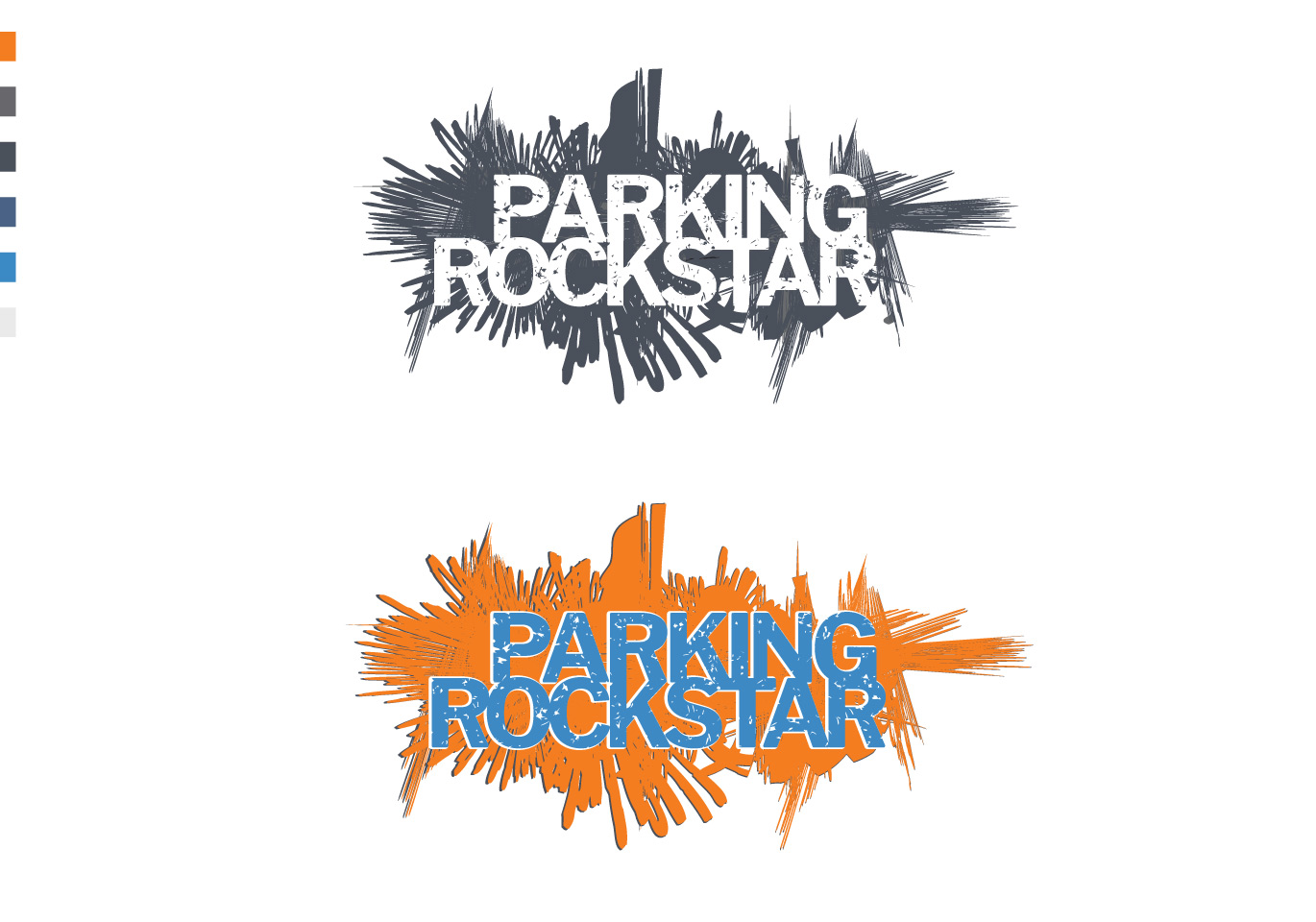 grey and color parking rockstar logo
