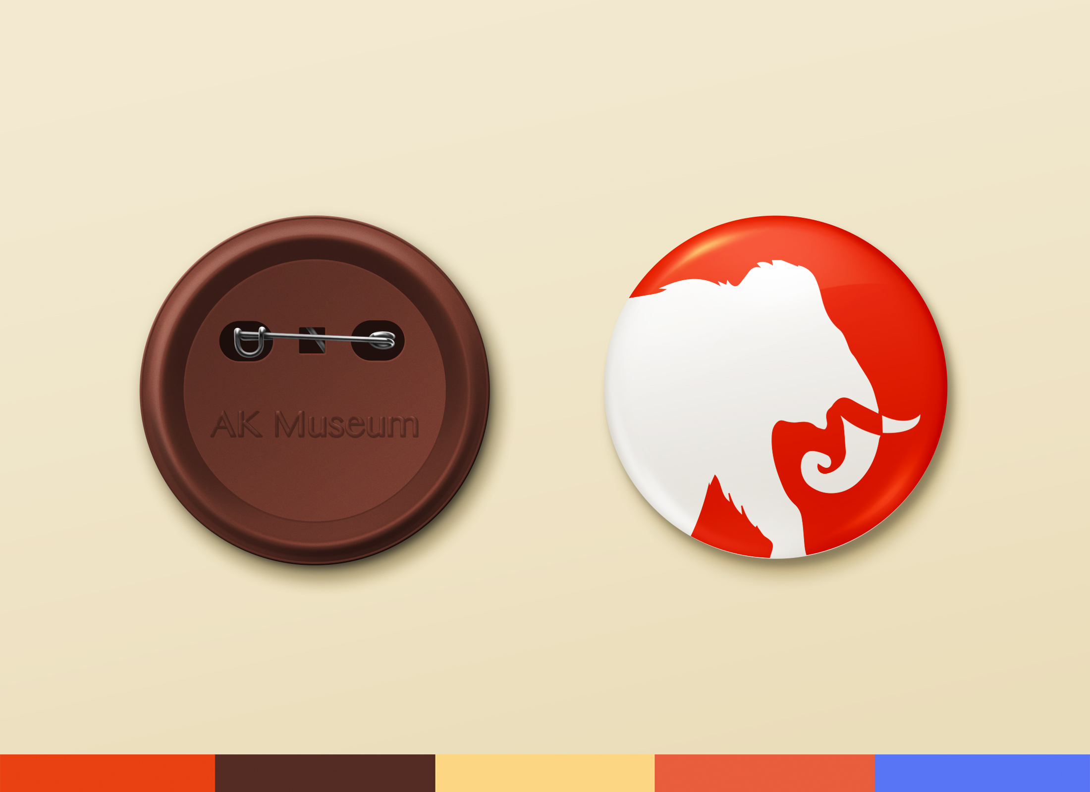 red mammoth button design