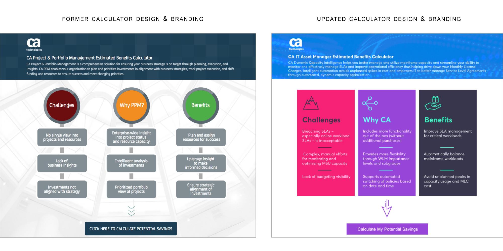 branding comparison of CA calculator