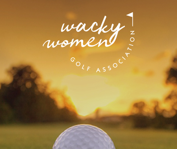 Golf Ball Logo Mockup for Wacky Women