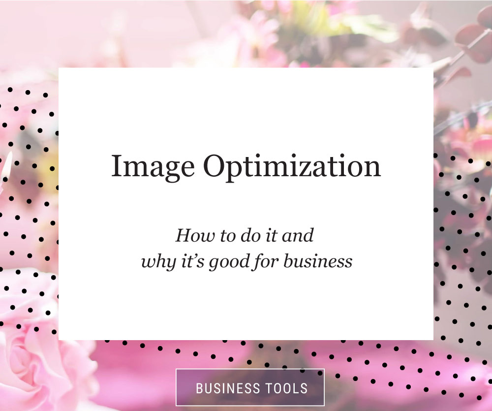 pink and black dot cover for image optimization tutorial