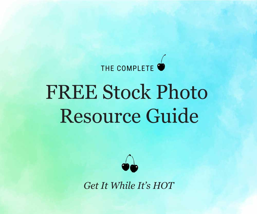 Free stock photo resource guide green and blue watercolor background with cherries